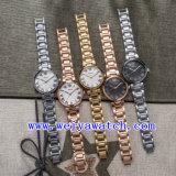 Polshorloges van de Legering van het Horloge van het Embleem van de douane de Toevallige (wy-025E)