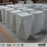 Resina Redonda Sanitaryware em mármore branco da Bacia de pedestal