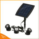 Ajustable impermeable LED Solar lámpara de jardín bajo el agua del estanque Piscina Iluminación
