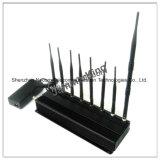 Oito Antenas Bloqueadores de sinal para 2g+3G+4G+2.4G+Lojack+Gpsl1, bandas de 8 4G GPS WiFi Socador Lojack Jammer com Carregador Veicular (CPJ3060)