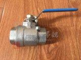 Полный порт/бурит шариковый клапан нержавеющей стали 2PC резьбы DIN M3