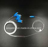 Оптоволоконный кабель Gpon телекоммуникационных 1X8 0.9mm Blockless PLC разветвитель разъем