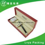 Sola caja de la caja de embalaje de la pluma del regalo del papel de plata