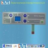 Painel de controle Matte da membrana do revestimento do efeito metálico excedente com o indicador do LCD da cor