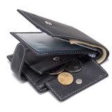 Многофункциональная минималистский медали кошелек держателя карты из натуральной кожи для мужчин Wallet
