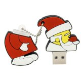 O disco o mais barato da etiqueta do USB da movimentação do flash do USB do PVC do presente do Natal da alta qualidade