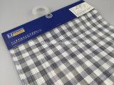 Покрашенная хлопчатобумажной пряжей покрашенная космосом ткань проверки для Shirt-Lz6244