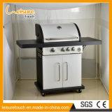 Realable Qualitätsgarten-Möbel im Freien kochendes BBQ-Gas-Gitter wahlweise freigestellt mit Rad