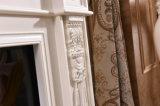 벽난로를 새기는 자연적인 백색 돌 벽난로 벽로선반 주위 조각품