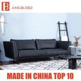 Mobília superior moderna nova dos sofás do couro do preto do sofá da grão para o escritório