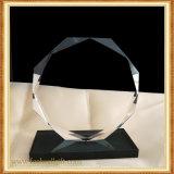 Premio Trofeo de cristal transparente personalizado