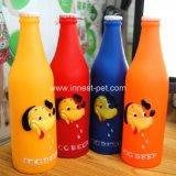 Stuk speelgoed van de Hond van de Vorm van de Fles van het Bier van de Producten van huisdieren het Piepende Plastic
