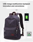 Rackpack Mens-Freizeit-Segeltuch-Antidiebstahl-Rucksack USB-Ladung