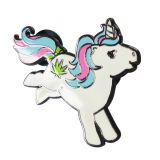 Custom Unicorn émail dur Sliver insigne métallique / Épinglette avec Brooch Pin (YB-pn-59)