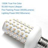 多機能LEDの明滅の球根、生きている炎の模範化または呼吸するか、または全般照明のモード、本当の火カラー