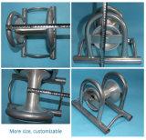 Aluminiumdreifache Kabel-Nylonriemenscheibe, Kabel, das Rolle legt