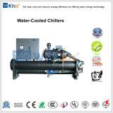 Parafuso arrefecidos a água Chiller com casca e o tubo do evaporador e condensador