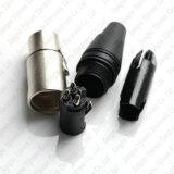XLR 3pin weiblicher Stecker-Mikrofonmic-Lautsprecher-Kabel-Audios-Verbinder