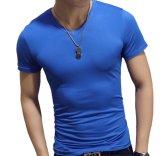 Preshrinked 면 95% Lycra 5% 보통 바디 적당한 보통 탄력 있는 t-셔츠