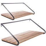 Personalizar las flechas de mayorista de estante de pared de metal y madera