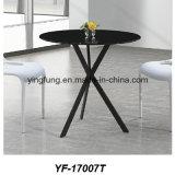 간단한 작풍 강화 유리 (YF-T17007)를 가진 현대 유리제 사무실 커피용 탁자