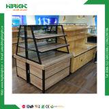 Présentoir en bois de Baksery de pain de supermarché