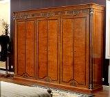 Het Italiaanse Koninklijke Houten Vastgestelde Meubilair van de Slaapkamer van de Decoratie van het Messing van de Luxe van de Stijl van Meubilair 0029