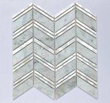 Material de construcción nacarado del mosaico del mármol de la mezcla del nuevo diseño 2017 300*300m m