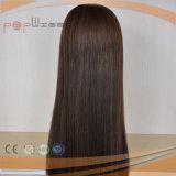 El cabello humano pleno máquina hecha mujer peluca (PPG-L-01139)