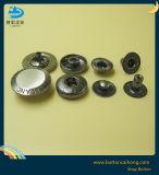 Muelle de aleación de zinc sujetadores de encaje botones con acabado pulido