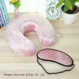 Forma de U almohada de látex y máscara de ojos fabricante venta directa