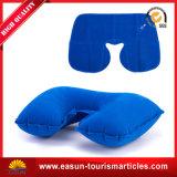 専門の膨脹可能な首の枕製造者のビロードの膨らまし式枕のU形の首の枕
