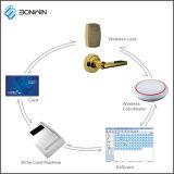 リモート・コントロール技術のスマートな情報処理機能をもったホテルのドアロックシステム