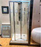 Bi-vouwen de Zaal van de Douche met 6mm ontruimt Aangemaakt Glas