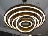 Lámpara ligera pendiente del hotel de la lámpara de cobre amarillo antigua del proyecto LED en varios diversa talla