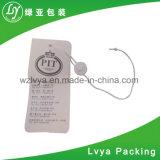 Tag de papel feito sob encomenda do cair da fonte da fábrica para o vestuário ou a bagagem