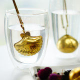 新しく熱いハンドルが付いている金によってめっきされるステンレス鋼の金網の茶Infuser