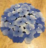 Точный ковер шерстей голубого Цветк-Выходит