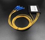 Gpon de telecomunicaciones de fibra de color 1X8 PLC Splitter Systems