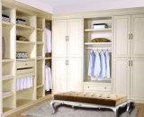 Muebles de madera del dormitorio del guardarropa del laminado de la melamina del grano