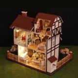 Деревянная кукла дом с учебными игрушки для детей