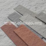Mattone di rivestimento rosso spaccato delle mattonelle flessibili dell'argilla