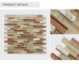 Tuile de mosaïque beige conçue neuve de Glass&Stone de type bon marché de crépitement pour la décoration