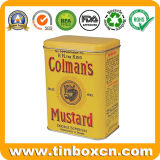Food Grade Custom прямоугольная кухня коробка для хранения металлических банок