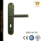 Alavanca da Porta de alumínio do tipo quadrado na placa traseira estreita (8004-AL193)