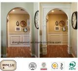 Panneau de mur décoratif en bois acoustique en gros d'art de forces de défense principale