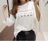 Hombres/camiseta ocasional de alta calidad de las mujeres con insignia de la impresión