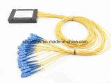 Splitter пластичной коробки PLC 1X16 оптического волокна для применения радиотелеграфа и сети и может, CCTV