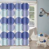 Impressão personalizada a cortina do chuveiro com 100% de tecido de poliéster resistente ao míldio