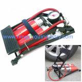 고압 두 배 배럴 자전거 또는 자전거 발 공기 펌프